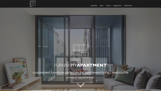 Furnish My Apartment Website Developer, Design and Concept, Bayside store