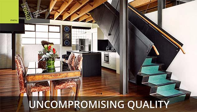 OffTheGrid Website Developer, Design and Concept, Melbourne store
