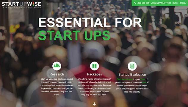Startupwise Website Developer, Design and Concept, Brighton shop